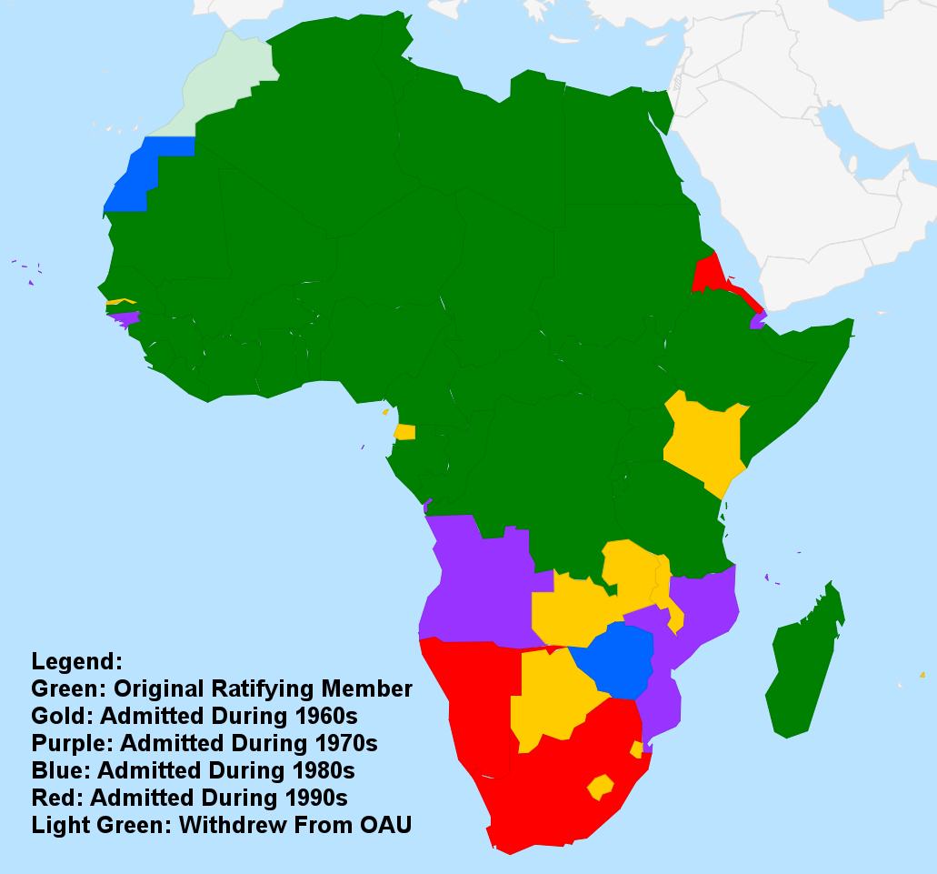 Organization of African Unity Map
