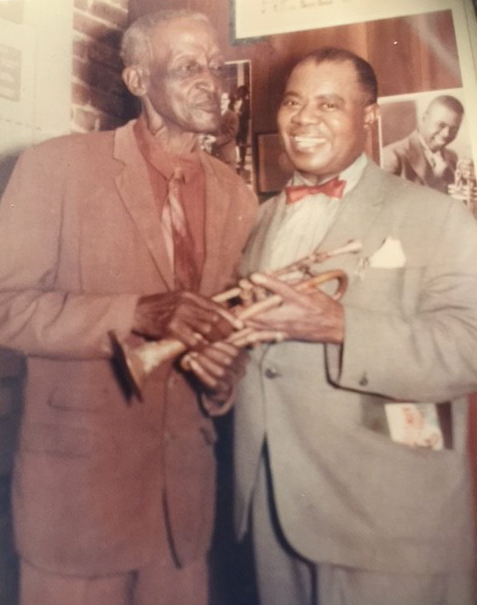 Peter Davis and Louis Armstrong, New Orleans, 1963