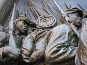 Photo of Part of the Robert Gould Shaw Memorial, Boston (Peter Walton)