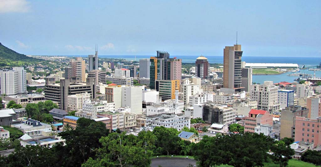 The Skyline of Port Louis, Mauritius