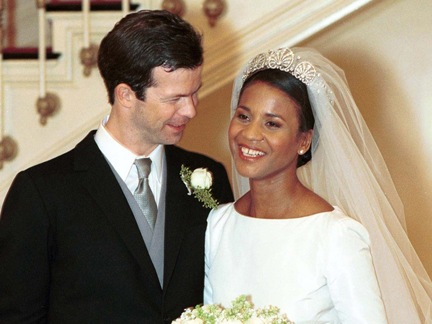 Prince Maximilian and Princess Angela on Wedding Day (Public Domain)