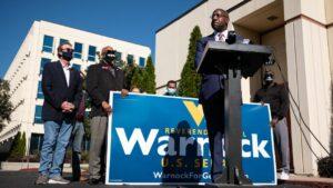 Raphel Warnock on Campaign Trail, 2020