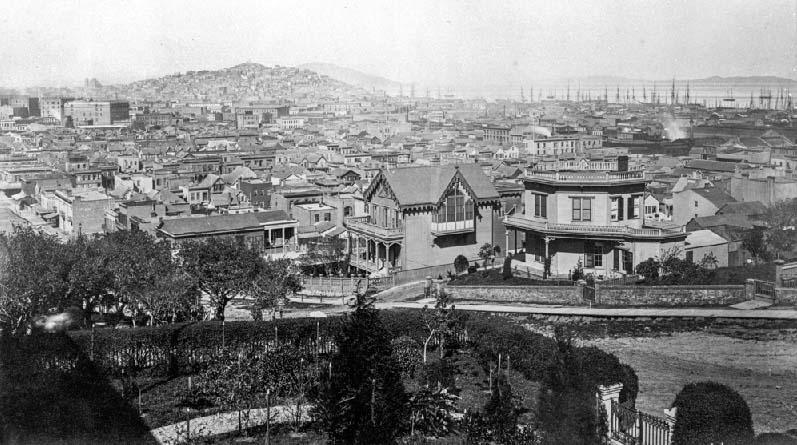 Rincon Hill, San Francisco, ca.1860