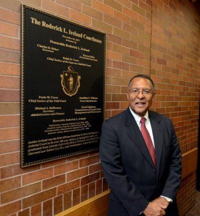 Roderick Ireland At Courthouse Dedication, Nov. 10, 2017