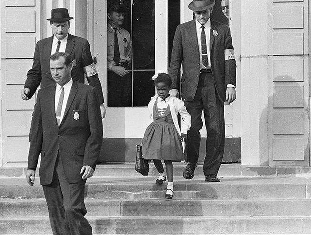 Ruby Bridges with US Marshals, November 14, 1960