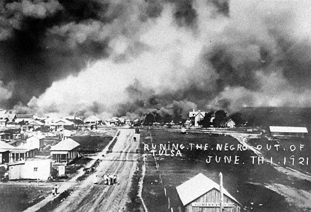 Running the Negro Out of Tulsa, June 1, 1921 (public domain)