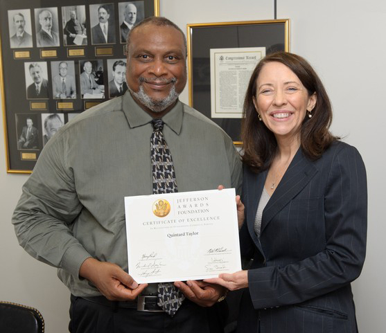 Senator Maria Cantwell and Quintard Taylor