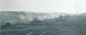 Sherman Tanks Advancing into Germany