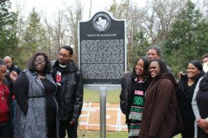 Slocum Massacre Descendants Celebrate the Placing of a Commemorative Marker (KSTX, San Antonio)