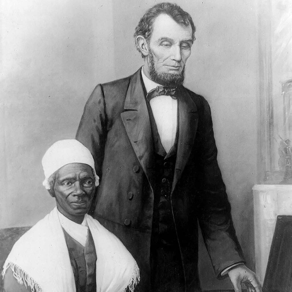 Sojourner Truth & Abraham Lincoln, Washington, DC, October, 29, 1864