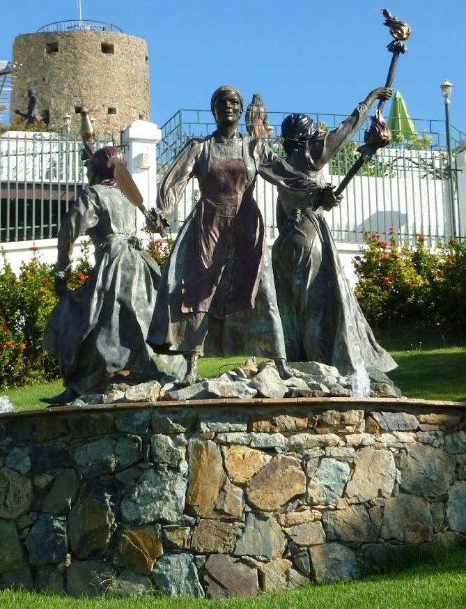 Statue of the Three Queens in St. Thomas, Virgin Islands