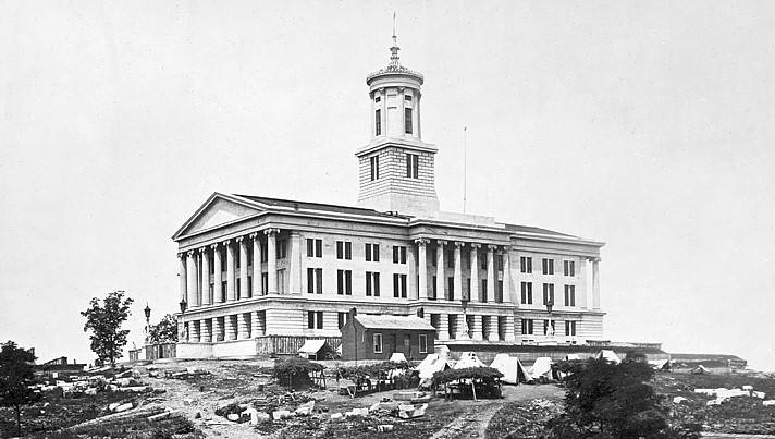 Tennessee State Capitol Building at the End of the Civil War, 1865.