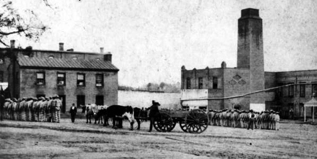 Texas State Penitentiary at Huntsville, Prison Yard, 1870s