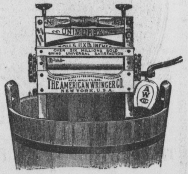 The Clothes Wringer, Invented 1880
