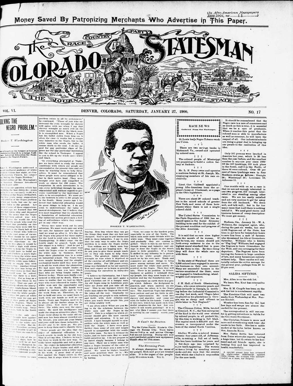 The Colorado Statesman, January 27, 1900
