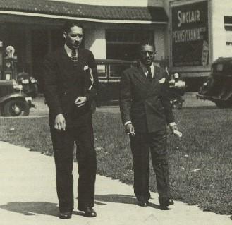 Thurgood Marshall (left) and Donald Murray, 1936