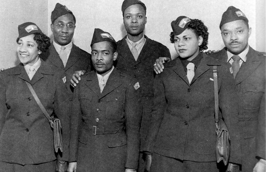 UNIT 342A: L-R, Alberta Hunter, Alfred Elkins, Ollie Crawford, Leonard Caston, Mae Gaddy & Joe Taps Miller