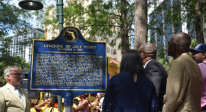 Unveiling Historical Marker for July Perry