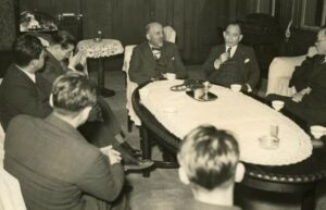 WEB Du Bois Meeting with Japanese Scholars in Toyko, 1936