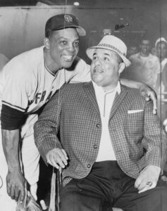 Willie Mays and Roy Campanella