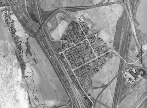 1940 Aerial Photo of Brooklyn, Illinois