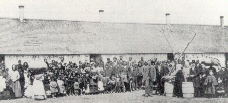Exodusters in West Topeka, Kansas, 1880
