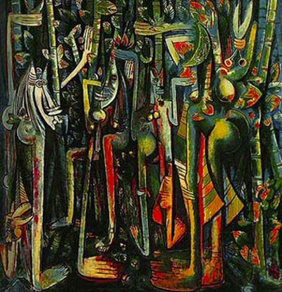 "Negritude Painting, ""La Jungla"" by Cuban-born Afro-Chinese Painter Wilfredo Lam"