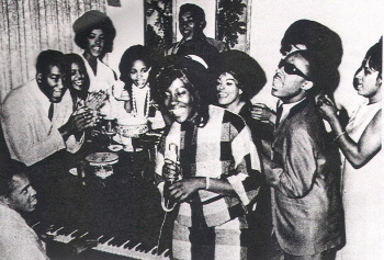 Kim Weston (with microphone) and Other Early Motown Entertainers, 1963