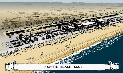 Pacific Beach Club Illustration