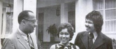 Ambassador Samuel Westerfield, his wife, Helene, and Their Son, Samuel Westerfield III in Monrovia, ca. 1971.