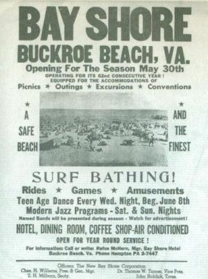 Bay Shore Resort, Buckroe Beach Ad