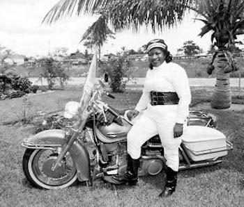 Bessie Stringfield in Miami ca. 1955