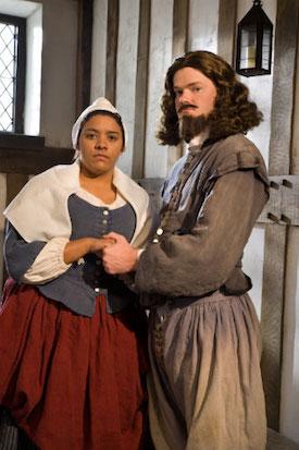 Colonial Williamsburg Reenactors Portraying Elizabeth Key and William Grinstead
