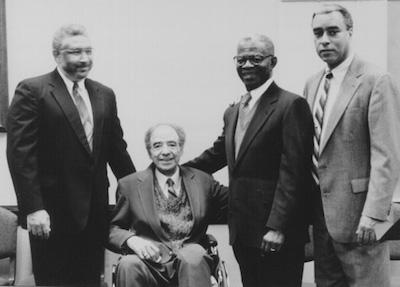 Darius Gray, Ruffin Bridgeforth (seated), Helvico Martins, and Don Hartwell