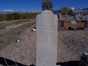 Gobo Fango's Gravestone Near Oakley, Idaho