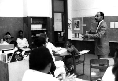 Herb Cawthorne in Portland Public School Classroom, ca. 1978