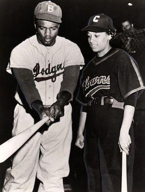 Jackie Robinson and Connie Morgan
