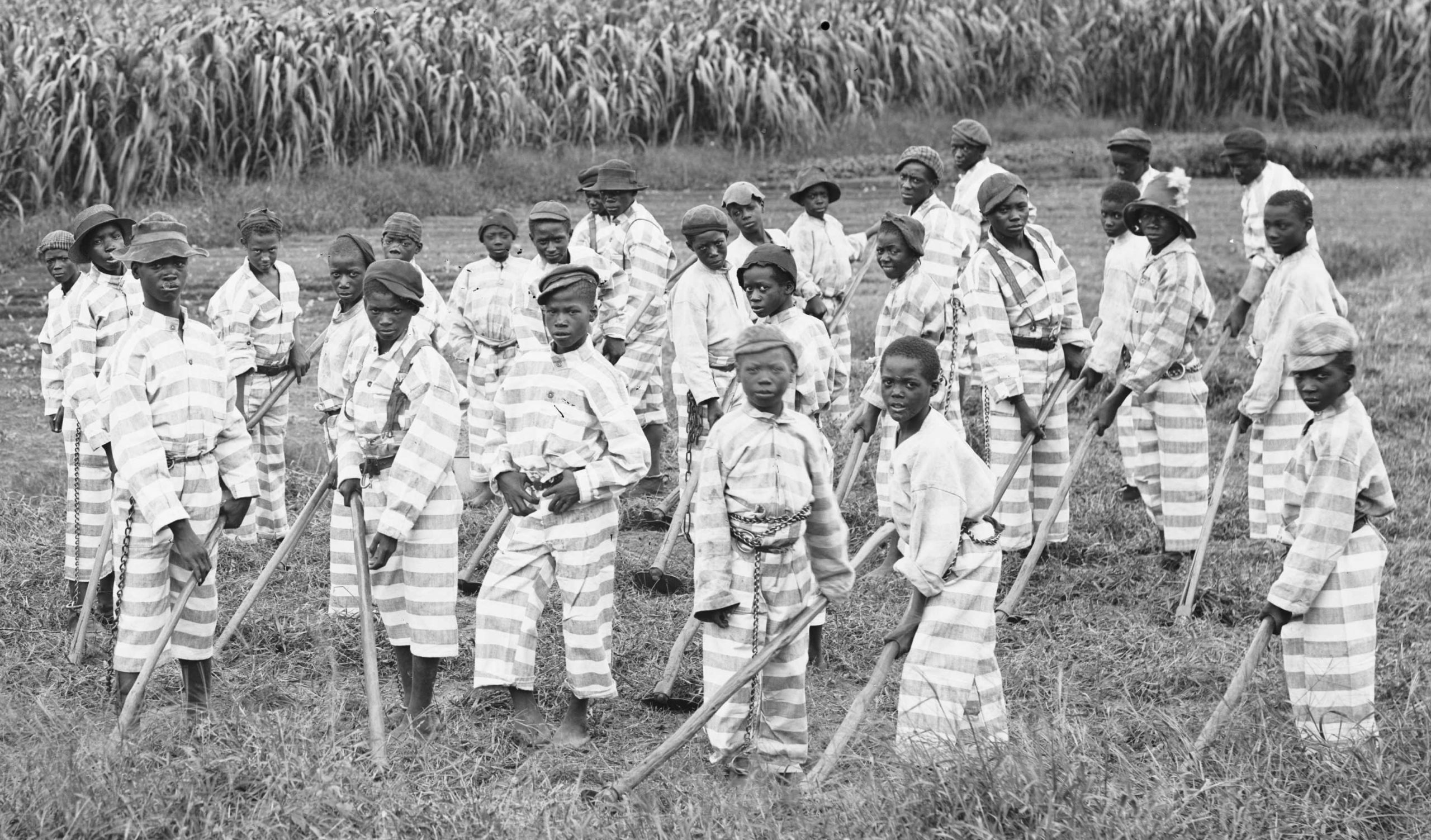 Black Children on Chain Gang, ca. 1900.