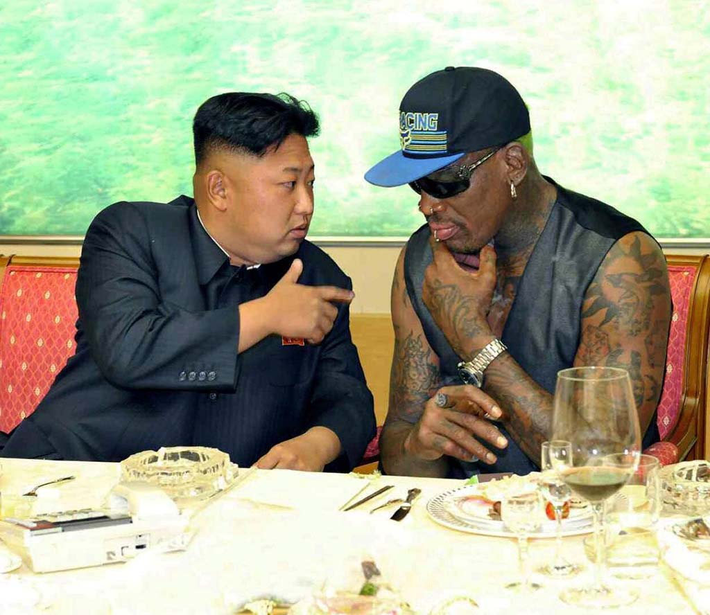 Kim Jong-un and Dennis Rodman, 2013