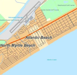 Map of Atlantic Beach