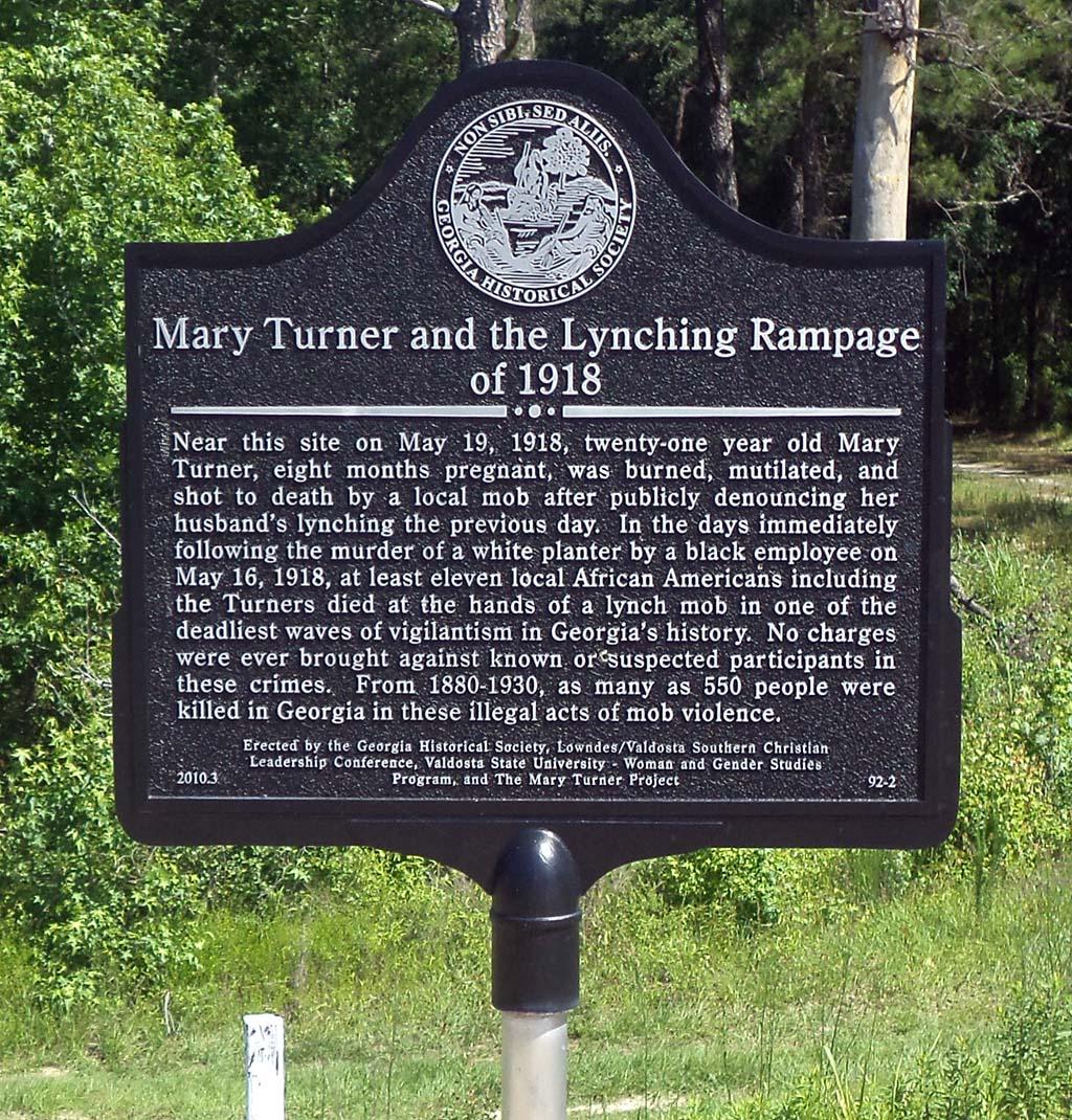 Mary Turner Historic Marker