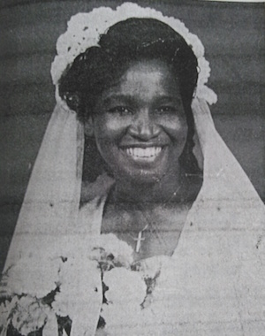 Ora Mae Lewis on Her Wedding Day, 1946