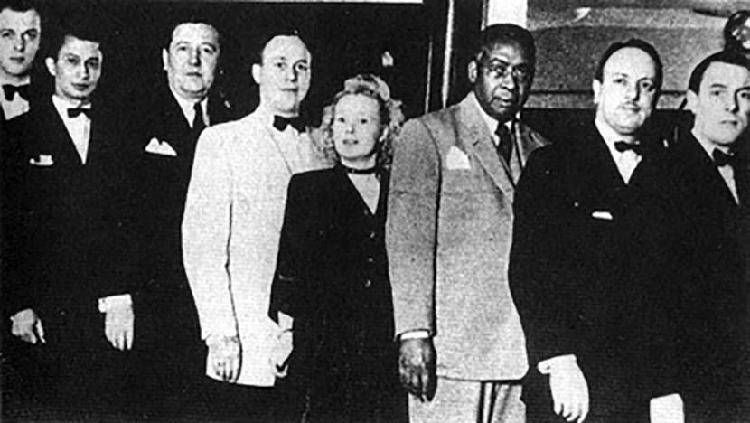 Osceola McKaine (3rd From Left) With Staff of his Supper Club in Ghent, Belgium, ca. 1938