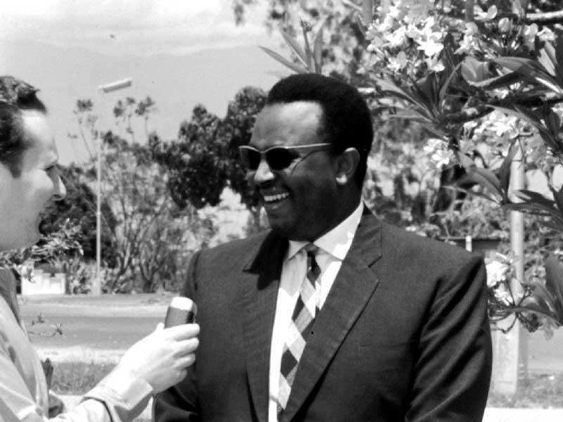 Prince Louis Rwagasore Being Interviewed, 1960