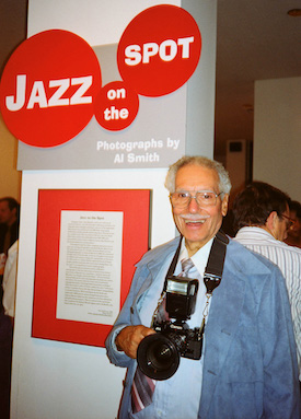 Al Smith, Sr., MOHAI opening of Jazz on the Spot, October 15, 1993