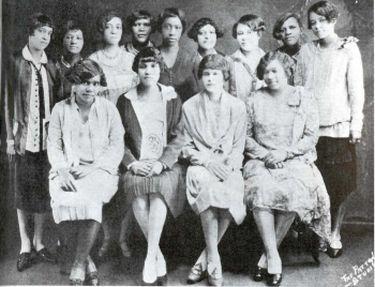 Sigma Gamma Rho, Alpha Chapter, Butler University, 1924