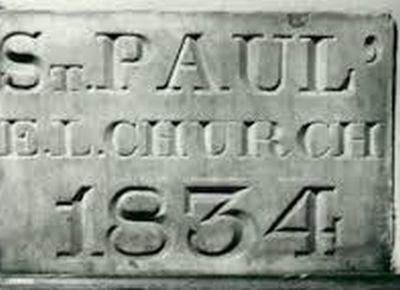 Foundation Cornerstone, St. Paul Lutheran Church