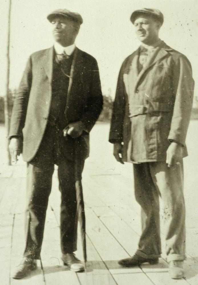 W.E.B. Du Bois and Woodland Park Founder Marion Auther on Dock at Woodland Lake