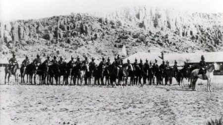 Ninth Cavalry at Fort Davis, Texas, ca. 1877