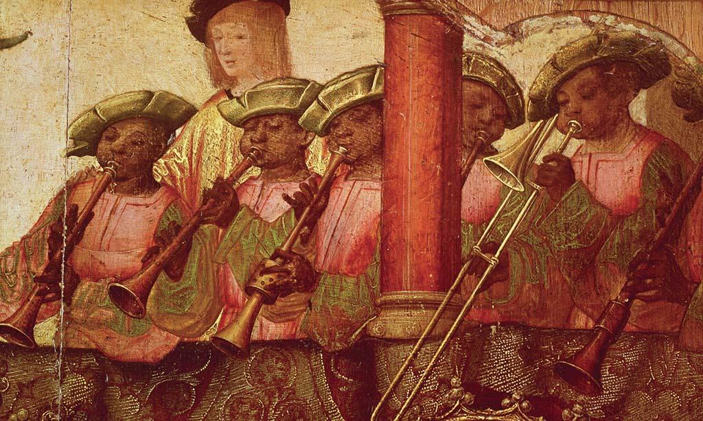 Black musicians, Lisbon, Portugal, ca. 1522